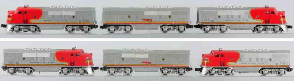 lionel 2535p 2343c santa fe lokomotive tender spur 0