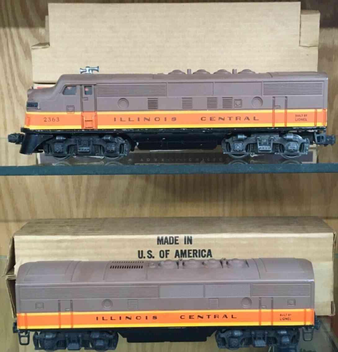 lionel 2363 railway toy engine diesel locomotive illinois central brown gauge 0