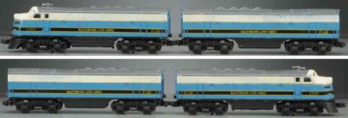 lionel 2368 railway toy engine diesel locomotive  black white blue yellow gauge 0