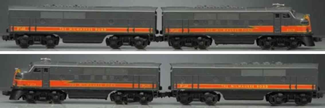 lionel 2378 railway toy engine diesel locomotive gray gauge 0