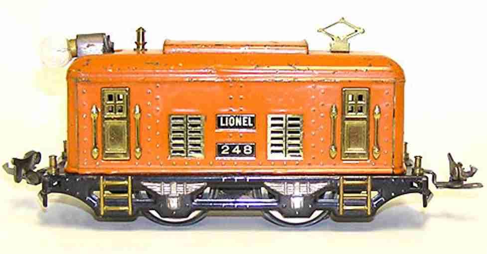 lionel 248 spielzeug eisenbahn elektrische lokomotive in orange spur 0