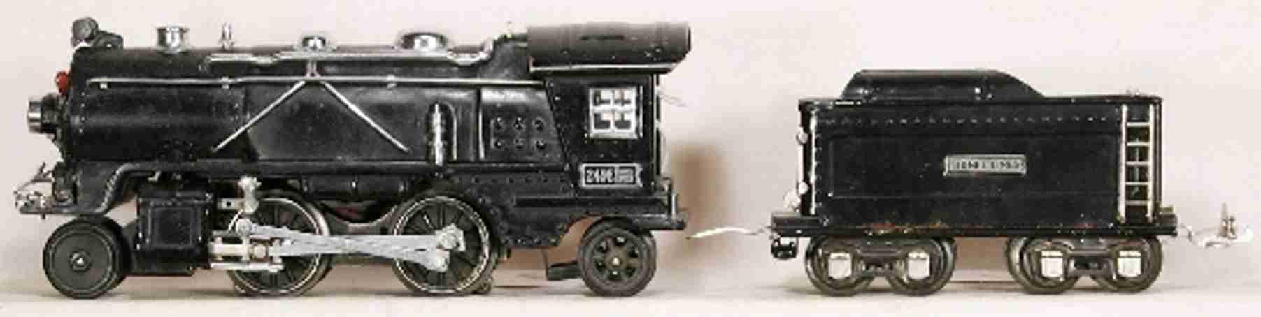 lionel 249e spielzeug eisenbahn dampflokomotive tender 265t spur 0