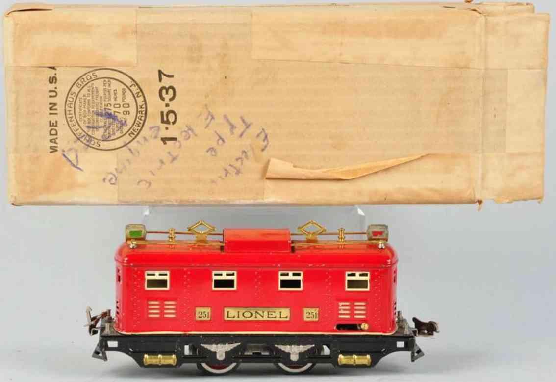 lionel 251 spielzeug eisenbahn elektro lokomotive rot spur 0