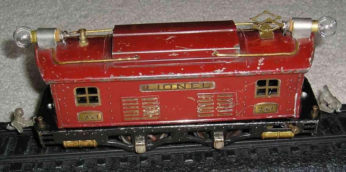 lionel 253 XII spielzeug eisenbahn elektrolokomotive in rot spur 0