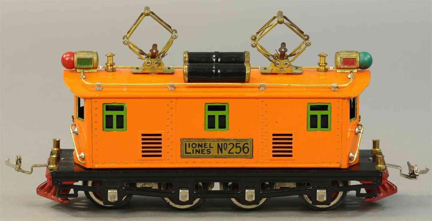 lionel 256 eisenbahn elektrolokomotive in orange spur 0