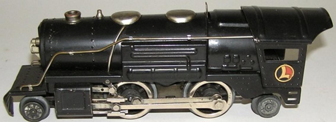 lionel 259E spielzeug eisenbahn dampflokomotve mit tender in schwarz spur 0