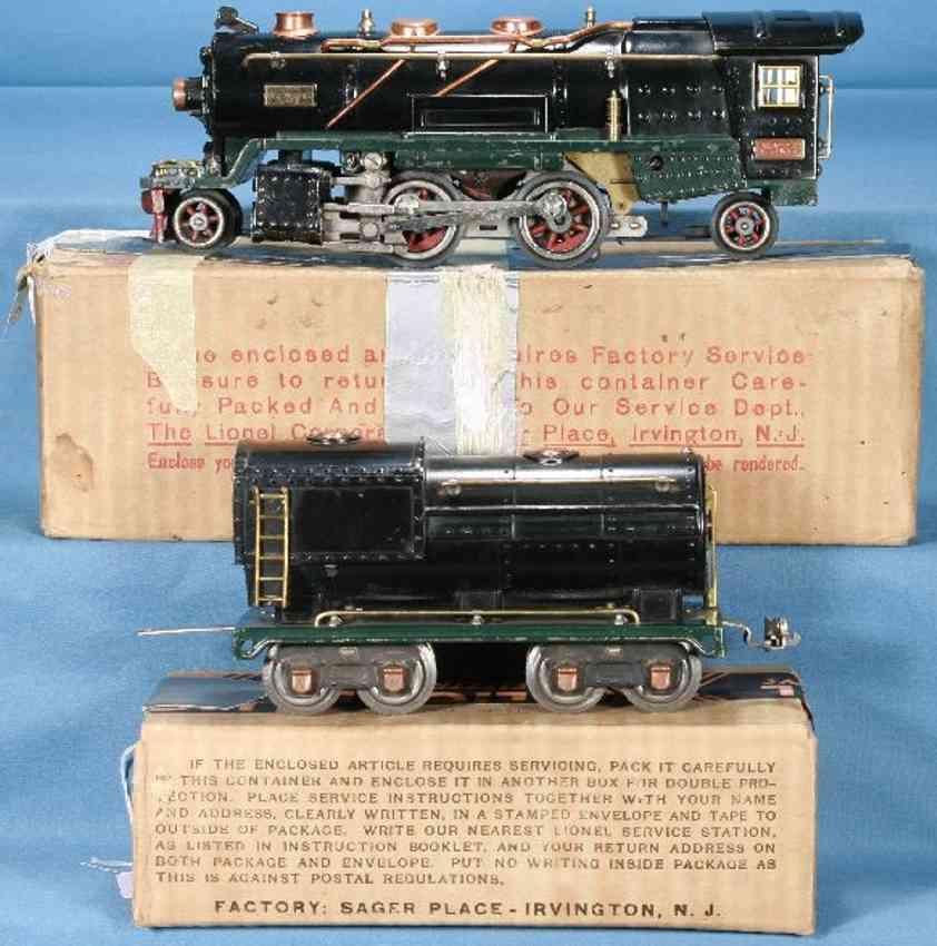 lionel 260e lokomotive mit tender schwarz gruen 260t spur 0