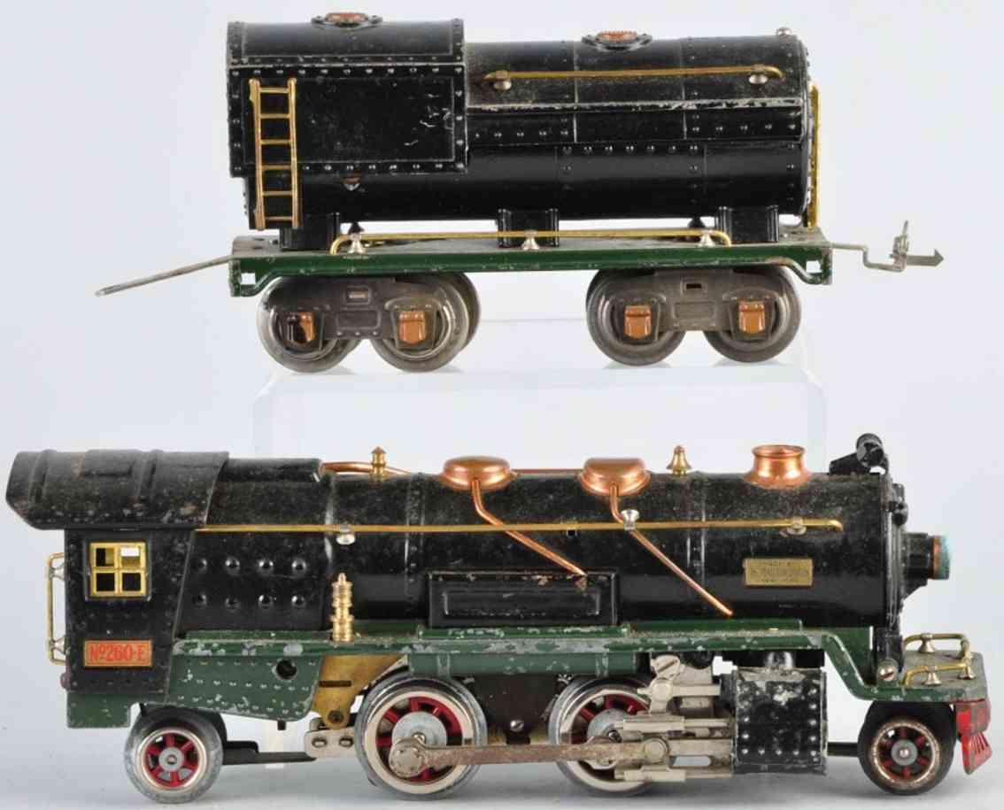lionel 260e lokomotive mit tender 260t spur 0