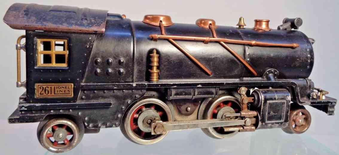 lionel 261 spielzeug eisenbahn lokomotive tender 257t blech druckguss schwrz spur 0