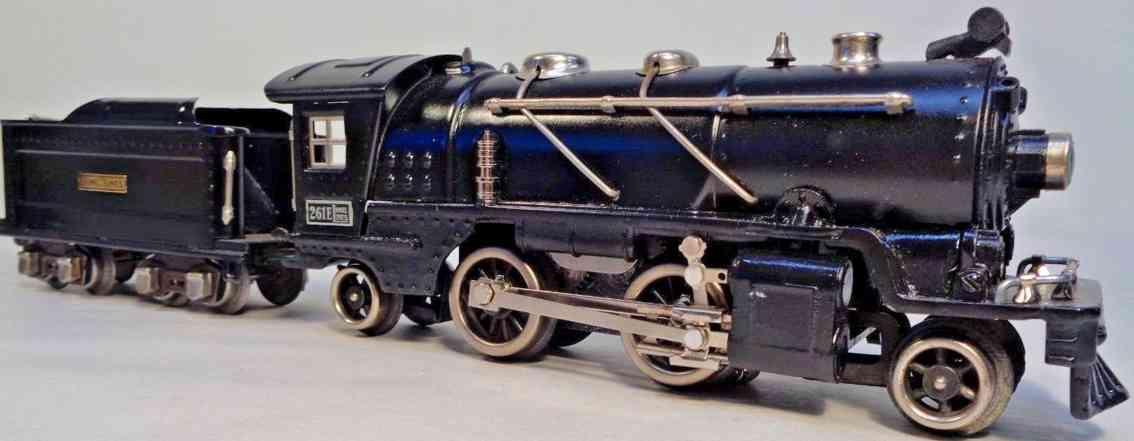 lionel 261e railway toy engine locomotive tender black gauge 0