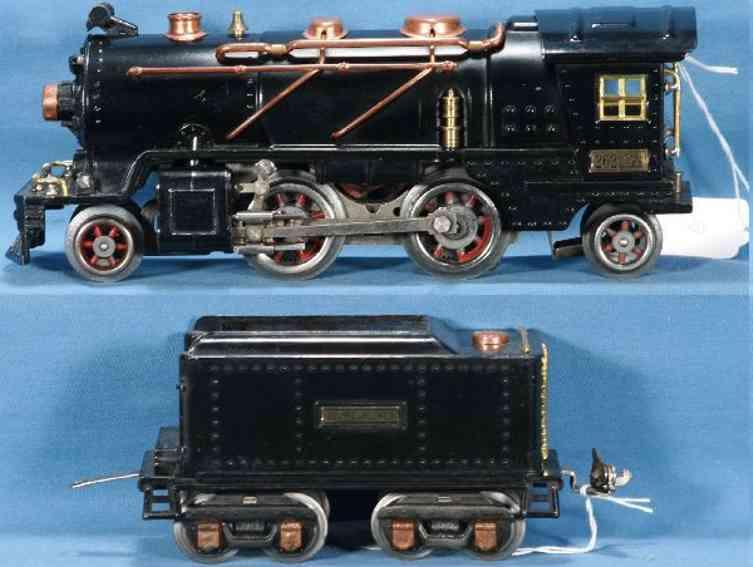 lionel 262/1 spielzeug eisenbahn dampflokomotive mit tender 262z spur 0