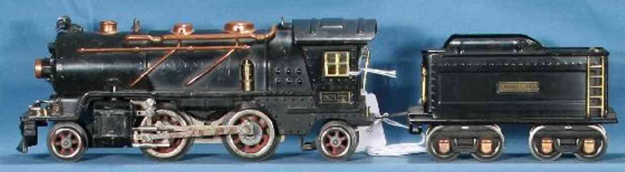 lionel 262e spielzeug eisenbahn dampflokomotive mit tender 262t spur 0