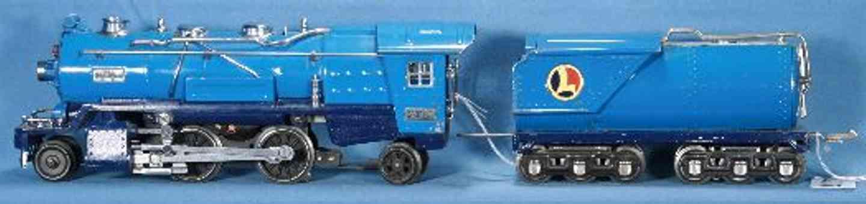 lionel 263E/III spielzeug eisenbahn dampflokomotive in zwei blautoenen mit tender 2263w spur 0