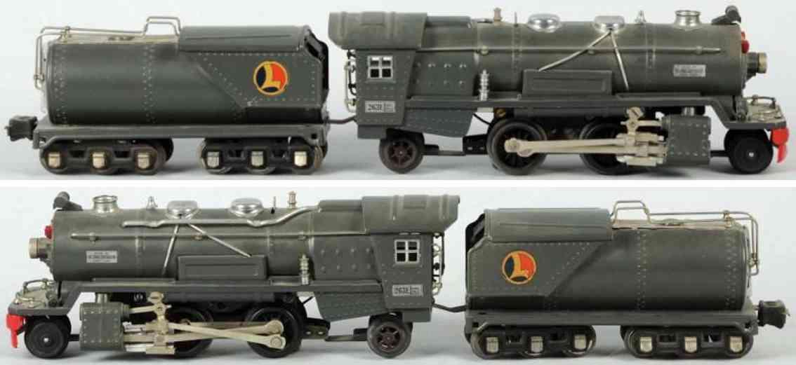 lionel 263e eisenbahn damplokomotive tender 263w spur 0