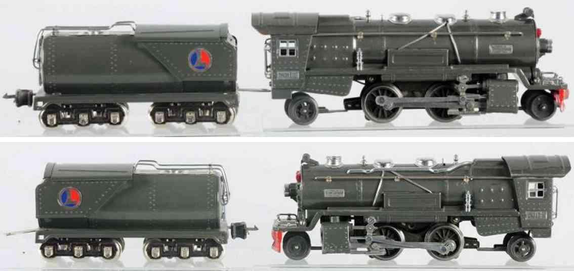 lionel 263e damplokomotive 2236w tender spur 0