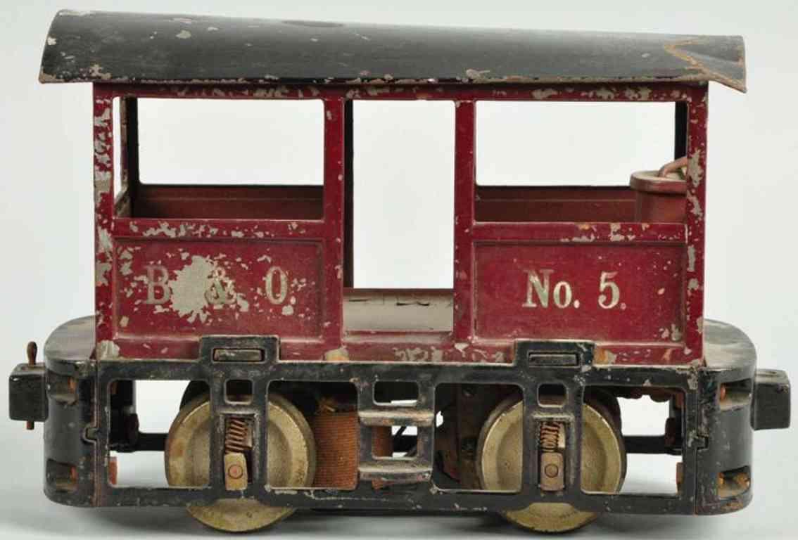 Lionel 100 type III Baltimore & Ohio Nr. 5 Tunnel-Lokomotive