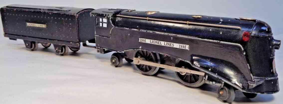lionel 289e spielzeug eisenbahn lokomotive commodore vanderbil schwarz spur 0