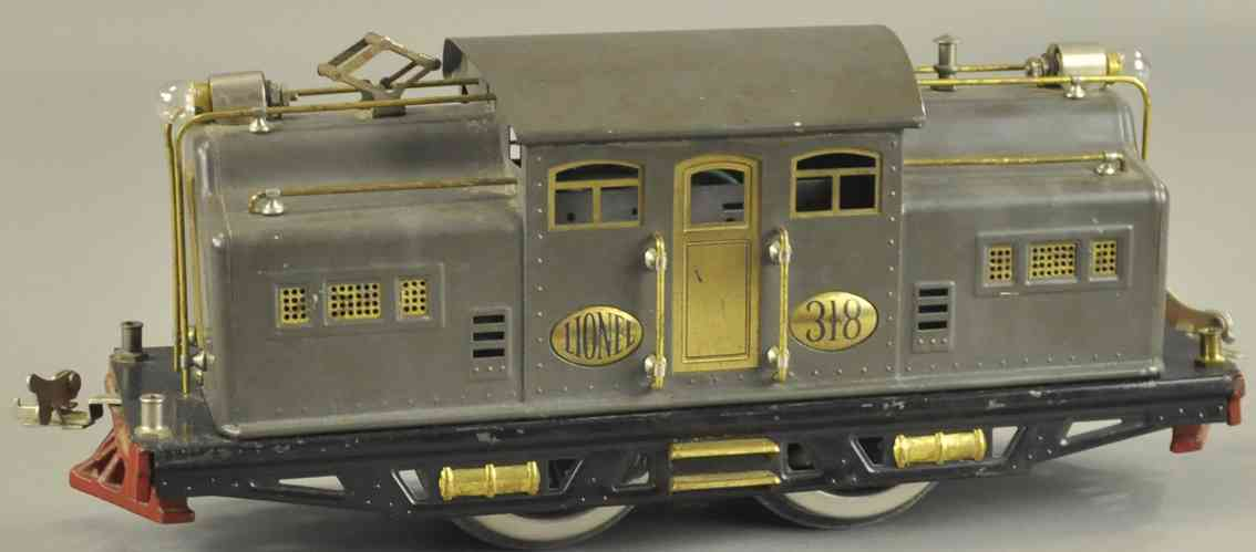 lionel 318 spielzeug eisenbahn elektrolokomotive grau standard gauge