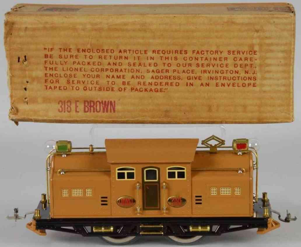 lionel 318e lokomotive in braun standard gauge