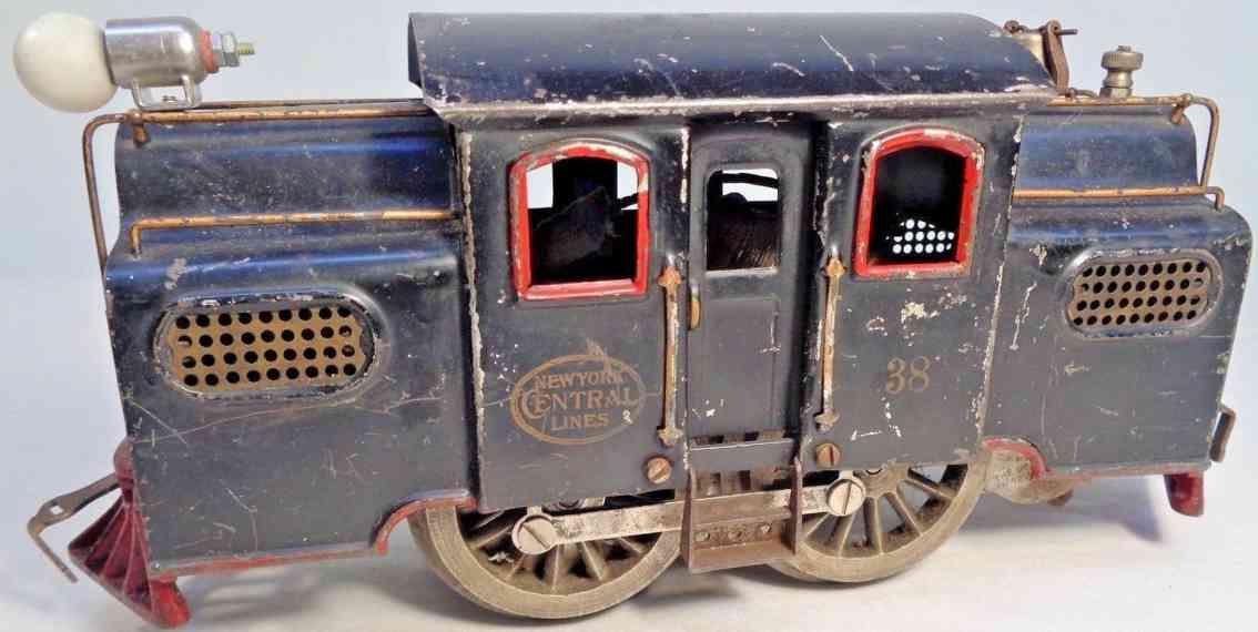 lionel 38 spielzeug eisenbahn elektrolokomotive schwarz standard gauge