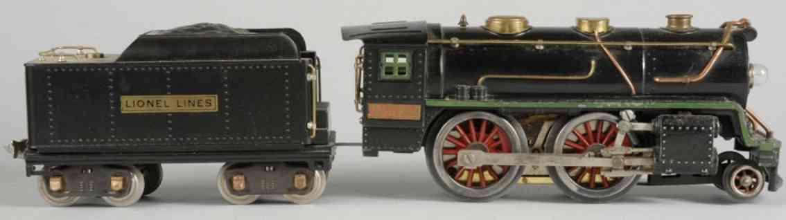 lionel 384e dampflokomotive mit tender 384t standard gauge