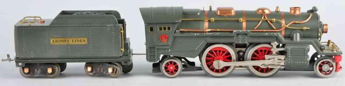 lionel 385e dampflokomotive mit tender standard gauge