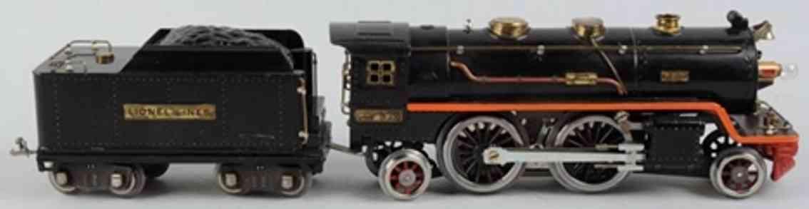 lionel 390 spielzeug eisenbahn dampflokomotive tender 390r schwarz standard gauge