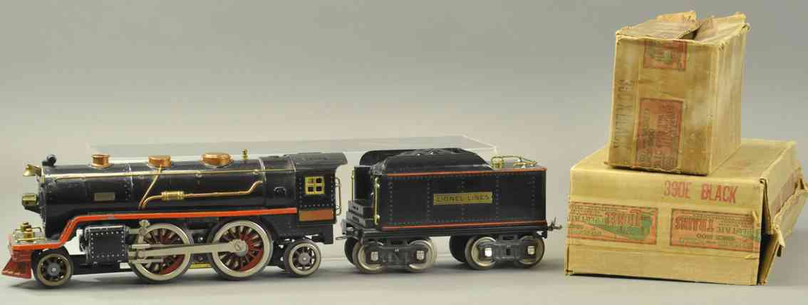 lionel 390e spielzeug eisenbahn damplokomotive schwarz standard gauge
