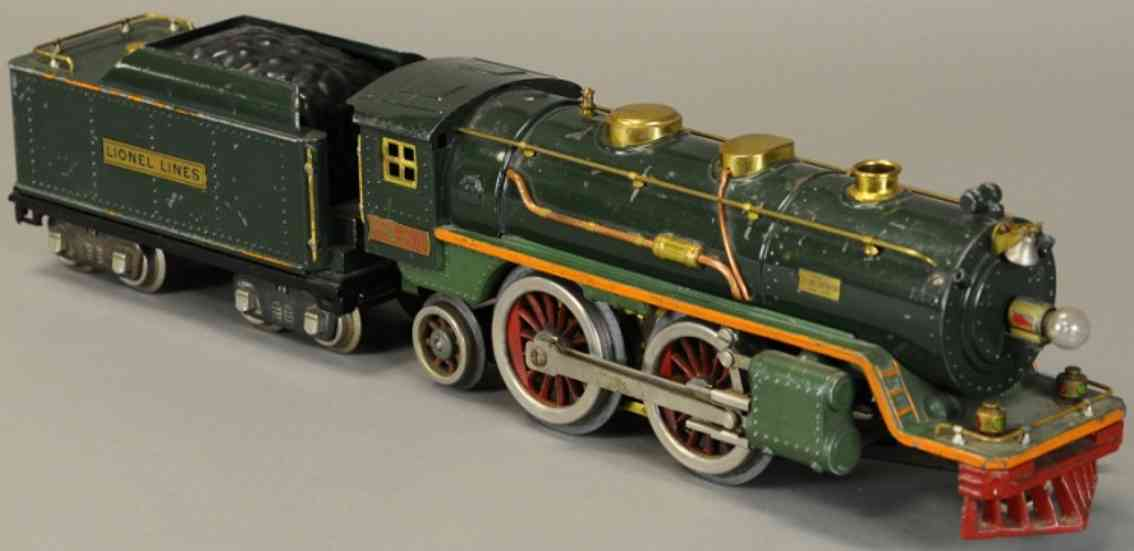 lionel 390e damplokomotive zwei gruentoene orange standard gauge