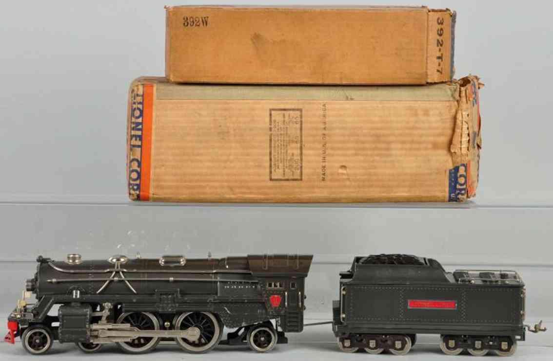lionel 392e eisenbahn dampflokomotive tender 392w standard gauge
