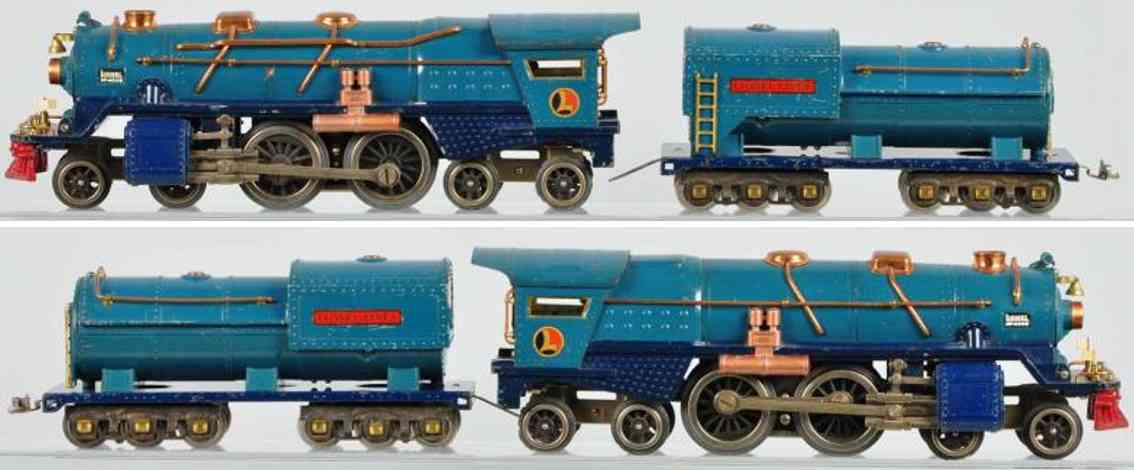 lionel 400 e eisenbahn lokomotive blue comet standard gauge