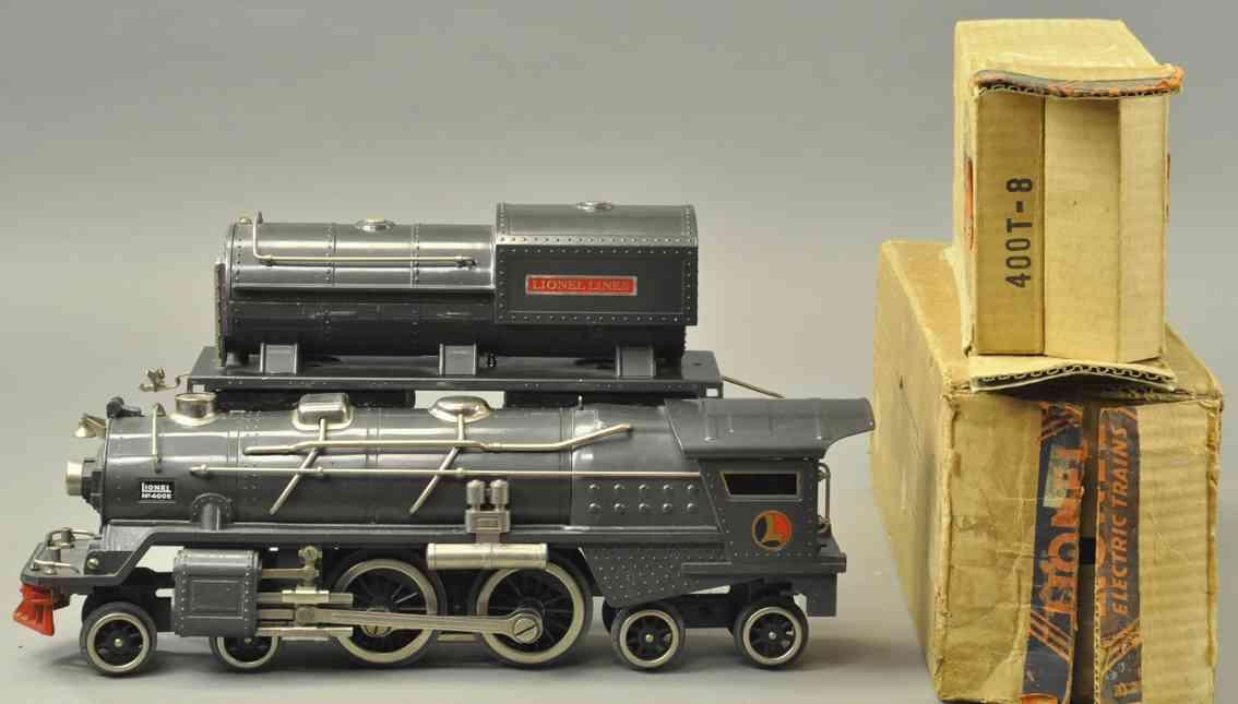 lionel spielzeug eisenbahn damplokomotive 400e tender 400w kanonenguss standard gauge