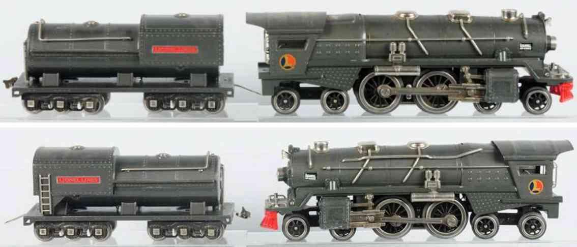 lionel 400e dampflokomotive tender 400w standard gauge
