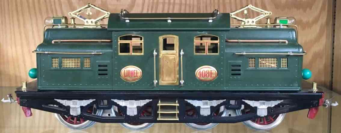 lionel 408e railway engine electric locomotive standard gauge state green