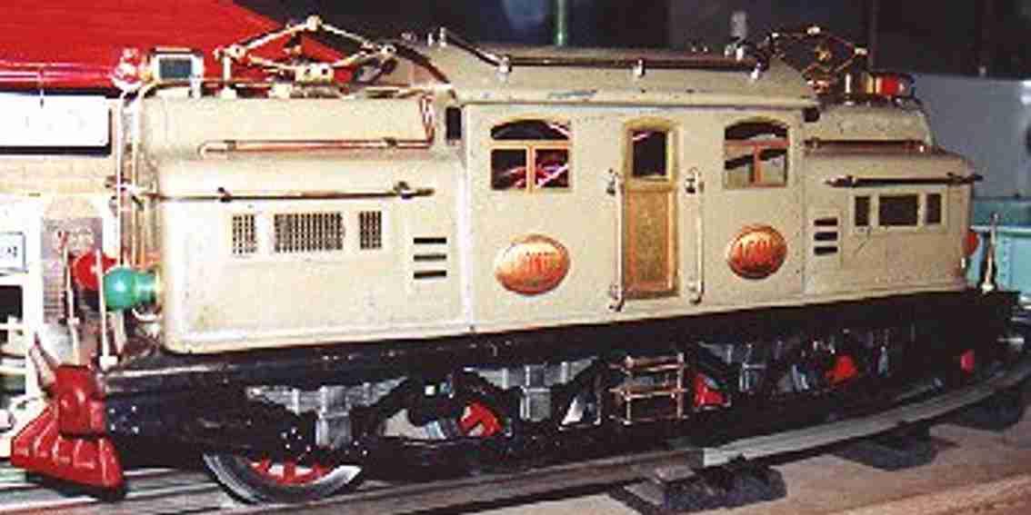lionel 408e sandfarben eisenbahn elektrolokomotive standard gauge