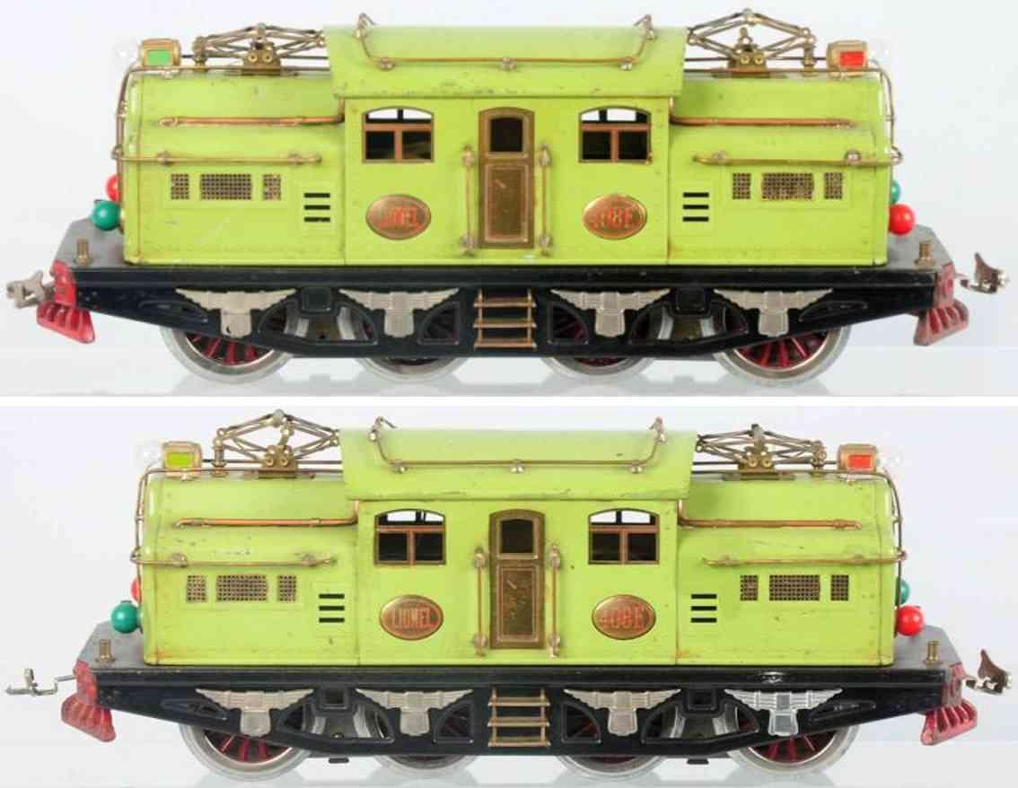 lionel 408e elektrolokomotive apfelgruen standard gauge