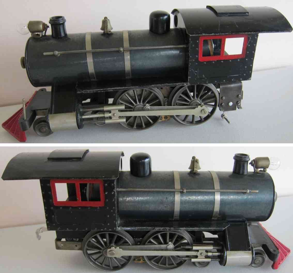 lionel 6 railway toy engine steam locomotive 4-4-0 with thin rimmed drivers nyc hrrr gauge 0