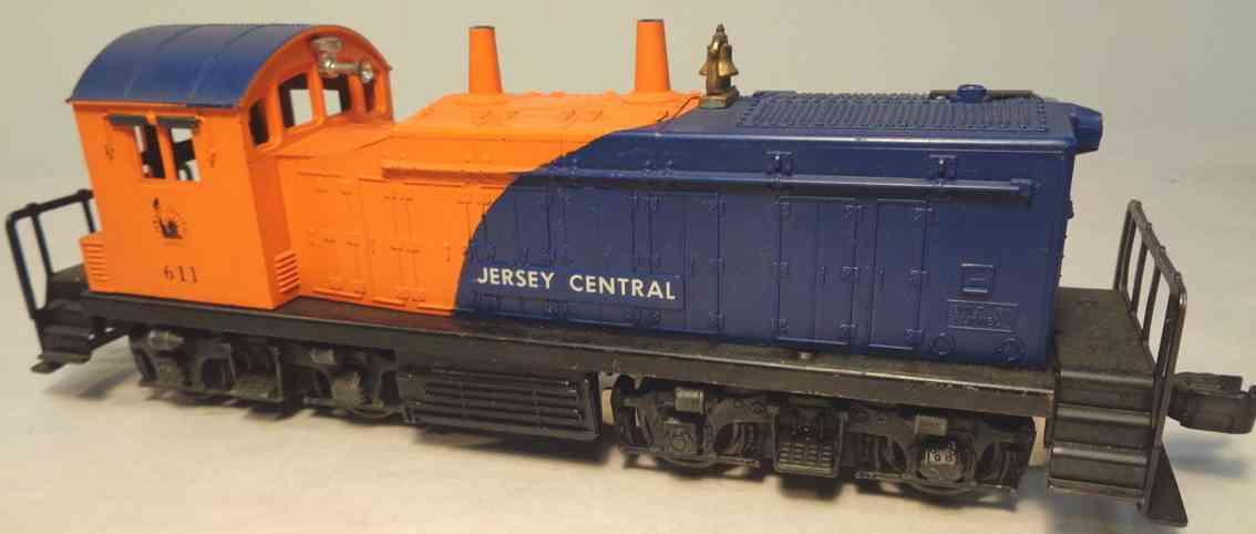lionel 611 spielzeug eisenbahn lokomotive blau orange spur 0