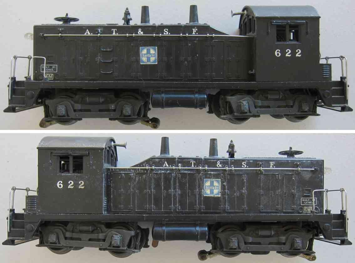 lionel 622 railway toy engine diesel switcher locomotive gauge 0