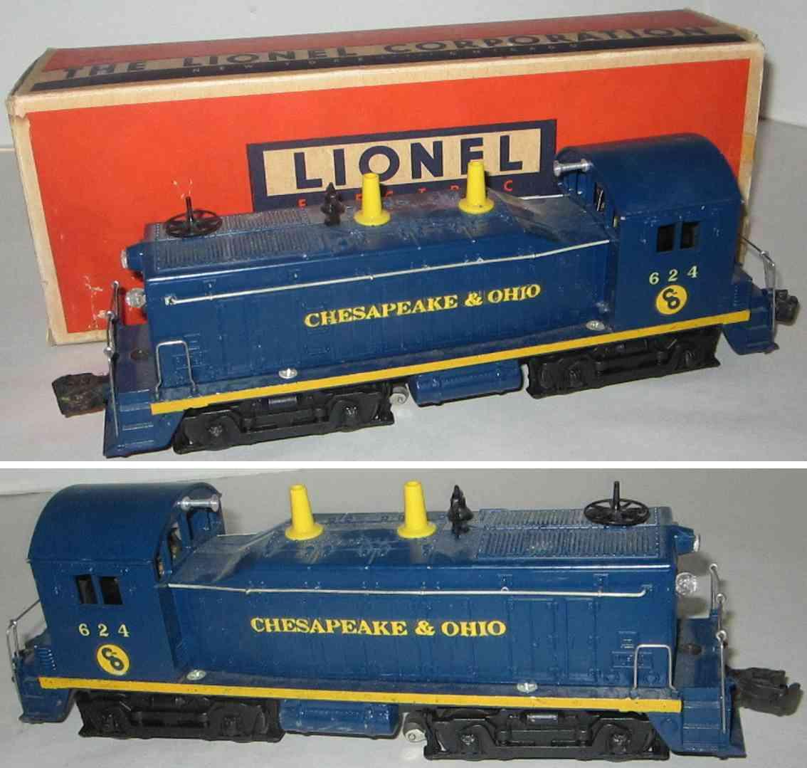 lionel 624 spielzeug eisenbahn chesapeake & ohio diesellokomotive spur 0