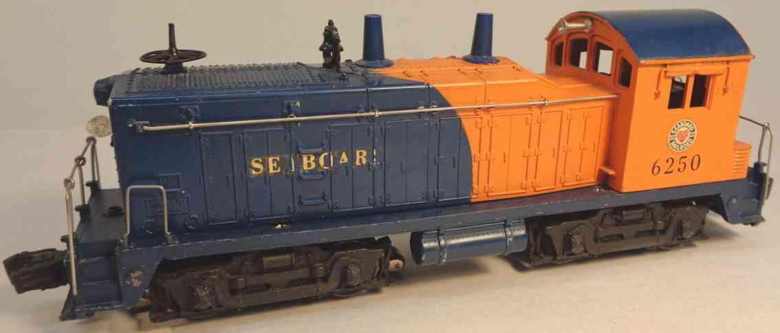 lionel 6250 spielzeug eisenbahn lokomotive blau orange 0 gauge standard
