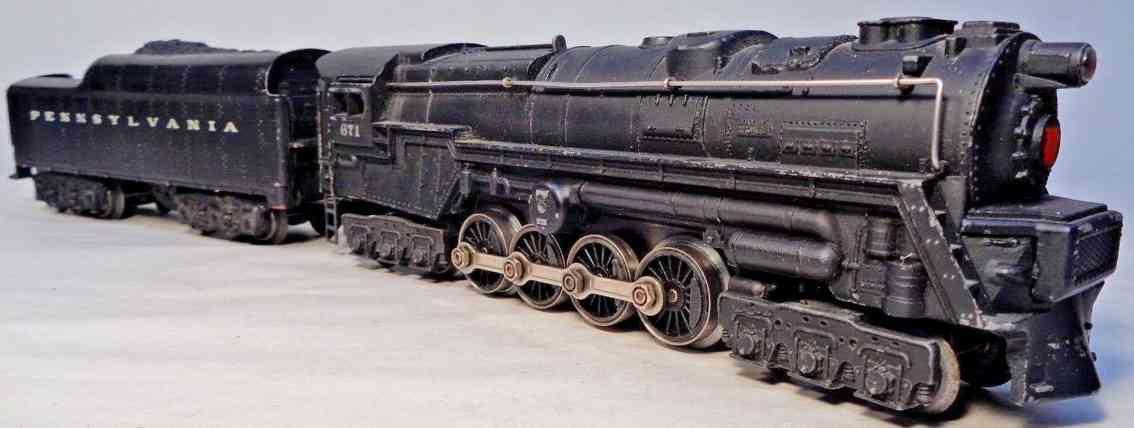 lionel 671 spielzeug eisenbahn dampflokomotive tender spur 0