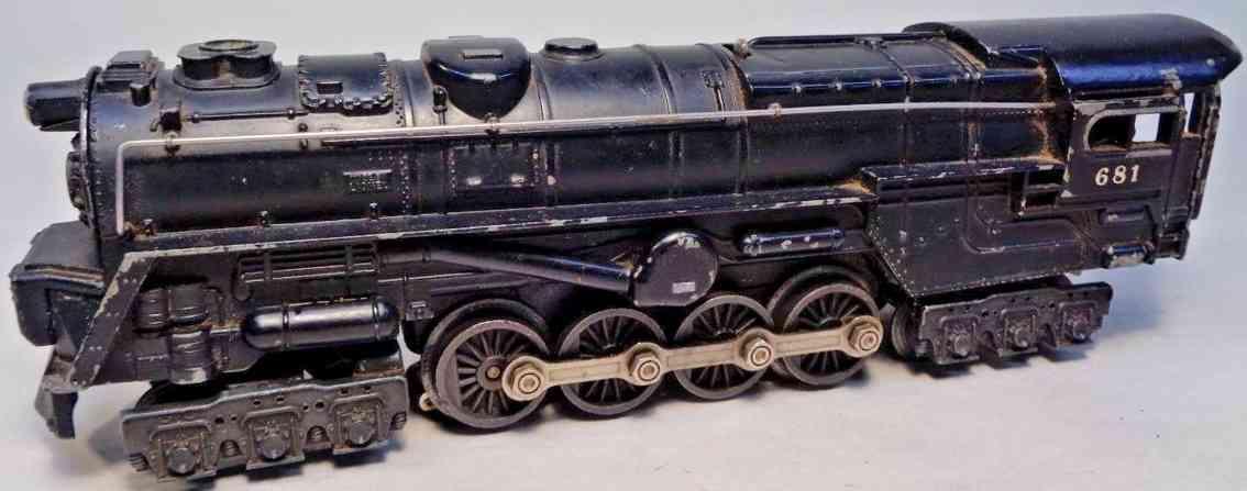 lionel 681 spielzeug eisenbahn turbinen dampflokomotive druckguss spur 0