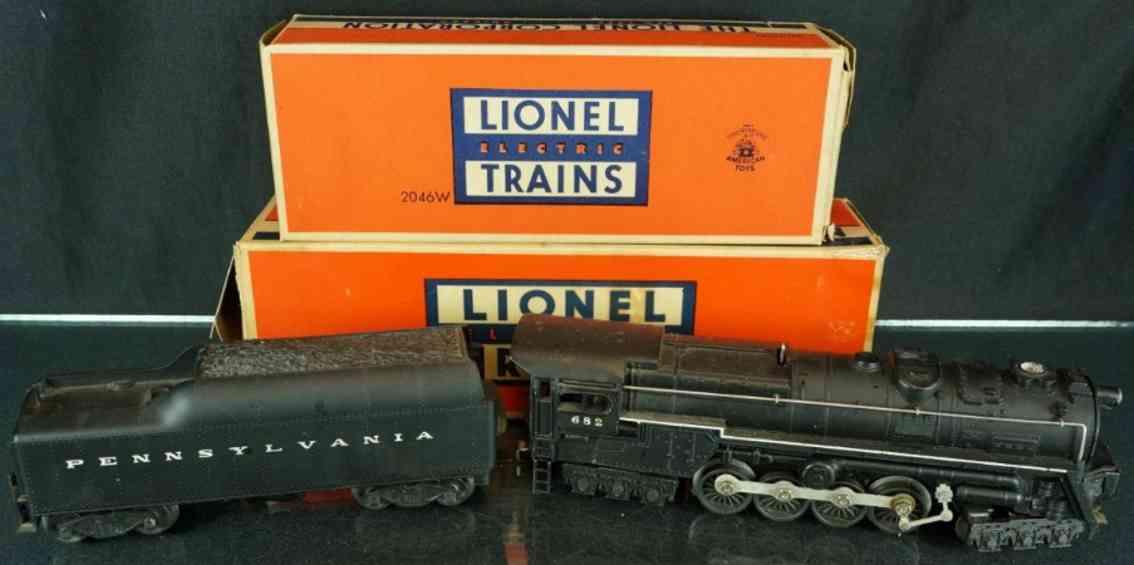 lionel 682 railway toy engine steam turbine tender 2046W-50 whistle black gauge 0