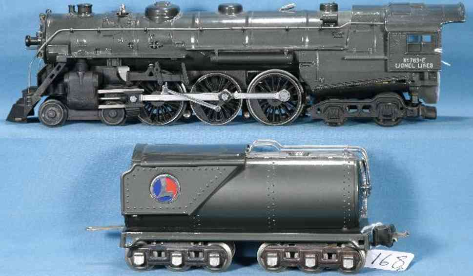 lionel 763E/II railway toy engine hudsun steam locomotive gunmetal with 2263w oiltender gauge 0