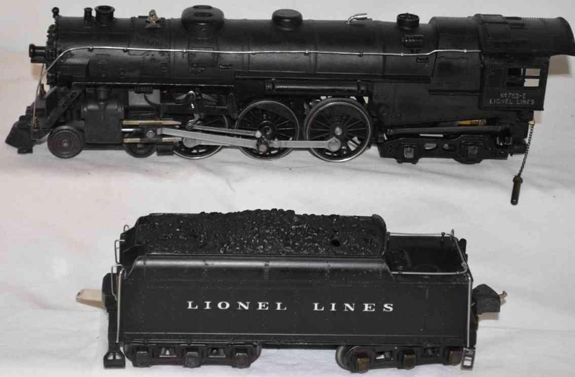 lionel 763e railway toy engine steam locomotive 763e  tender 2226w  black
