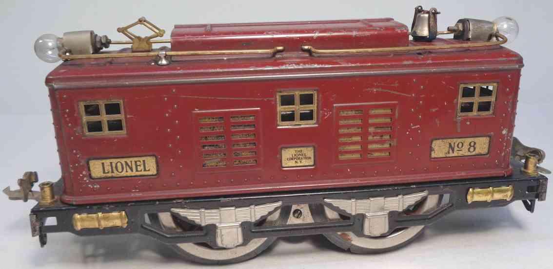 lionel 8 spielzeug eisenbahn elektrolokomotive braun standard gauge