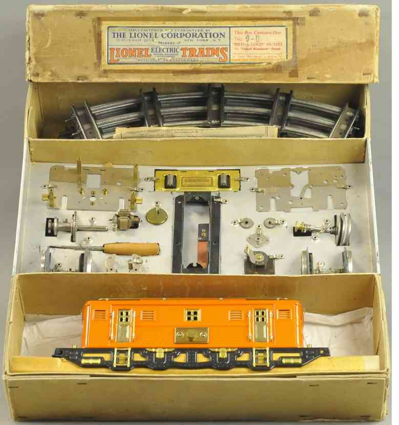 lionel 9u toy engine electric locomotive orange standard gauge