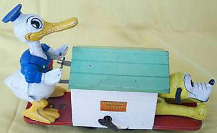 Lionel 1107 Donald Duck Handkarre mit Pluto und Uhrwerk