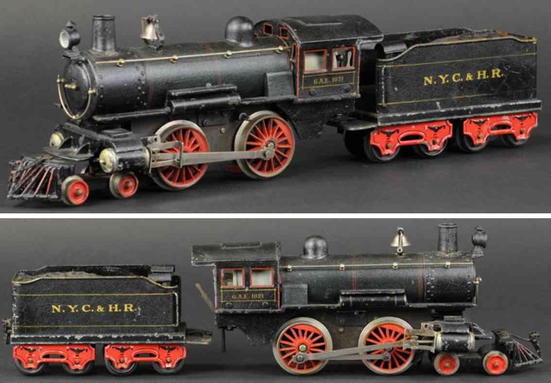 maerklin ae 1021 nyc&hr eisenbahn amerikanische dampflokomotive tender spur 1